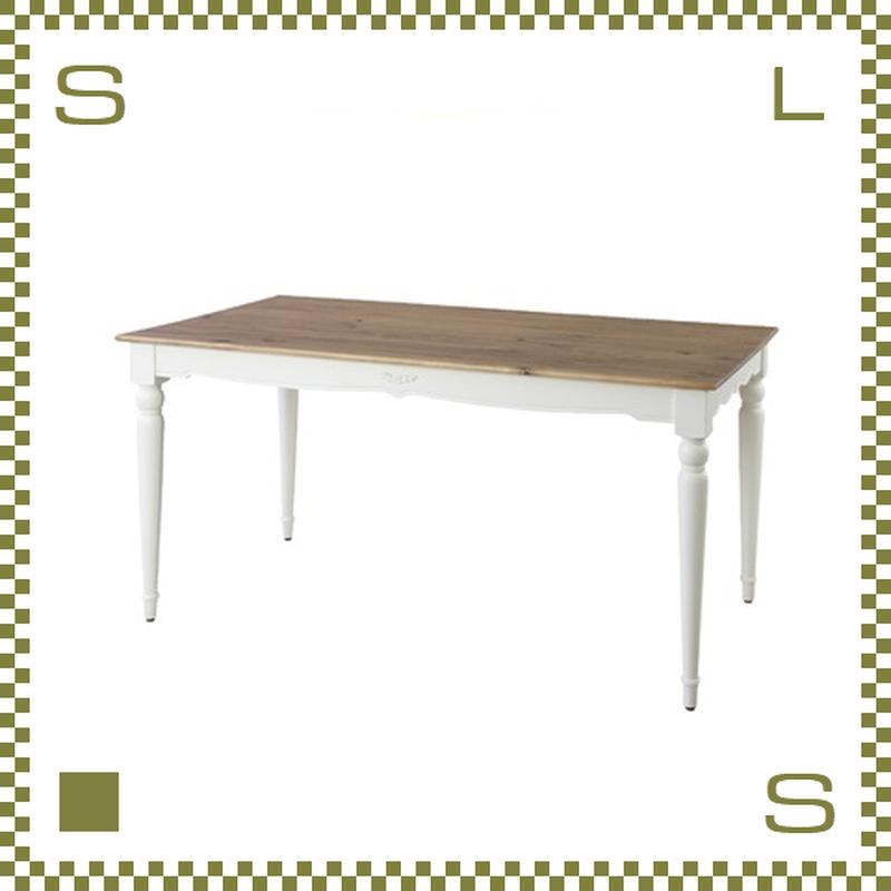ダイニングテーブル フレンチクラシック風 W150/D80/H72cm テーブル azu-pm865