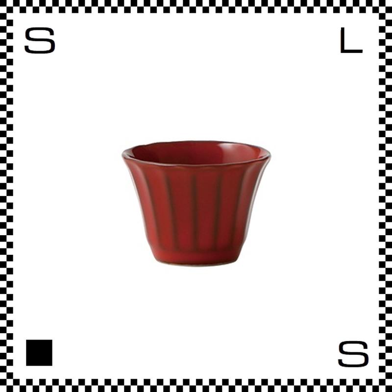 風雅 ふうが ぐい呑み 紅 レッド Φ55/H40mm 40cc 小鉢 お猪口 おちょこ レトロカラー 日本製