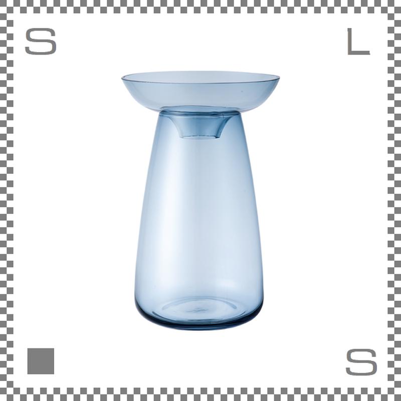 KINTO キントー アクアカルチャーベース Mサイズ ブルー 花瓶 ガラス製