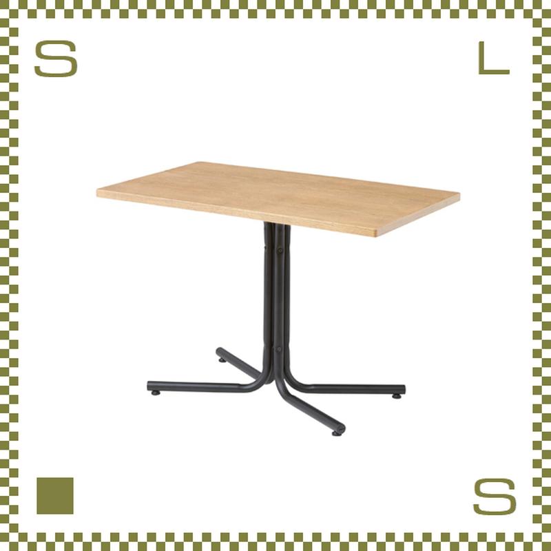 カフェテーブル レクタングル ナチュラル W100/D60/H67cm 1本脚テーブル シンプルナチュラル 北欧デザイン azu-end224tna