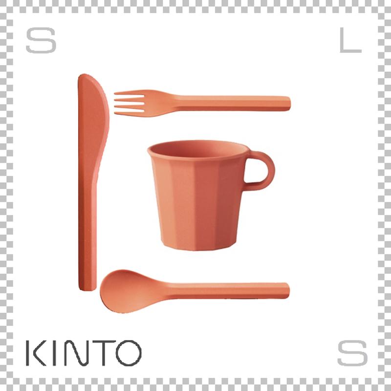 KINTO キントー ALFRESCO アルフレスコ マグカップセット レッド マグ カトラリーセット 樹脂製 アウトドア グランピング