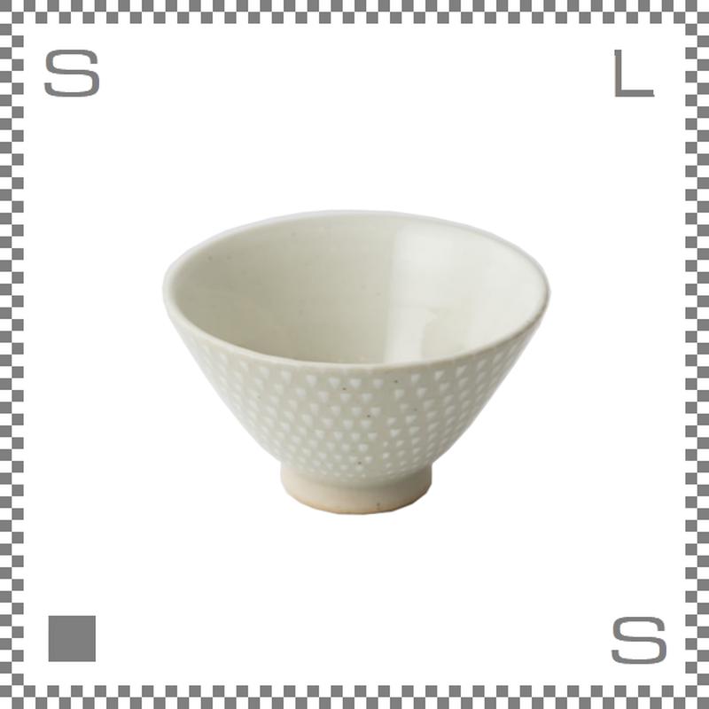 aiyu アイユー ORIME オリメ 鹿の子 カノコ 茶碗 ホワイト Φ11/H6.5cm ライスボウル 波佐見焼 日本製