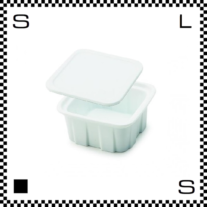 瑞浪焼 陶器製フードコンテナ Sサイズ ホワイト 蓋付 W105/D105/H62mm 160cc 美濃焼
