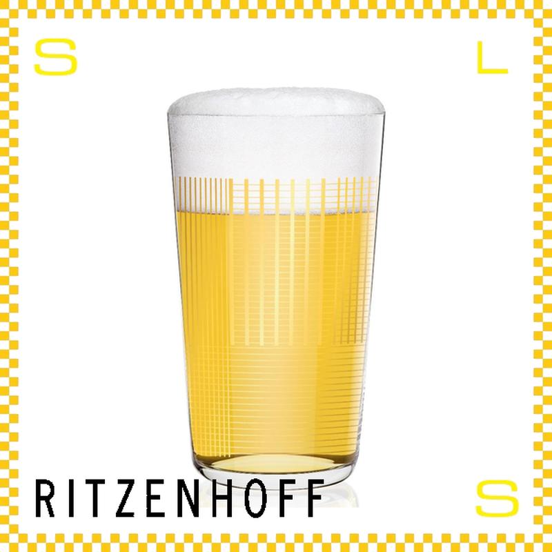 RITZENHOFF リッツェンホフ ビアグラス 330ml ゴールドチェック ピエロ・リッソーニ Φ80/H140mm タンブラー ゴールドライン ギフト  ritz-3510002