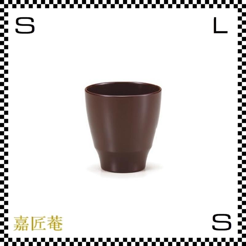 十色のぐい呑み カップ 茶 ブラウン Φ6.7/H6.9cm 漆カップ 漆塗装 ちょこ フリーカップ 小鉢 日本製