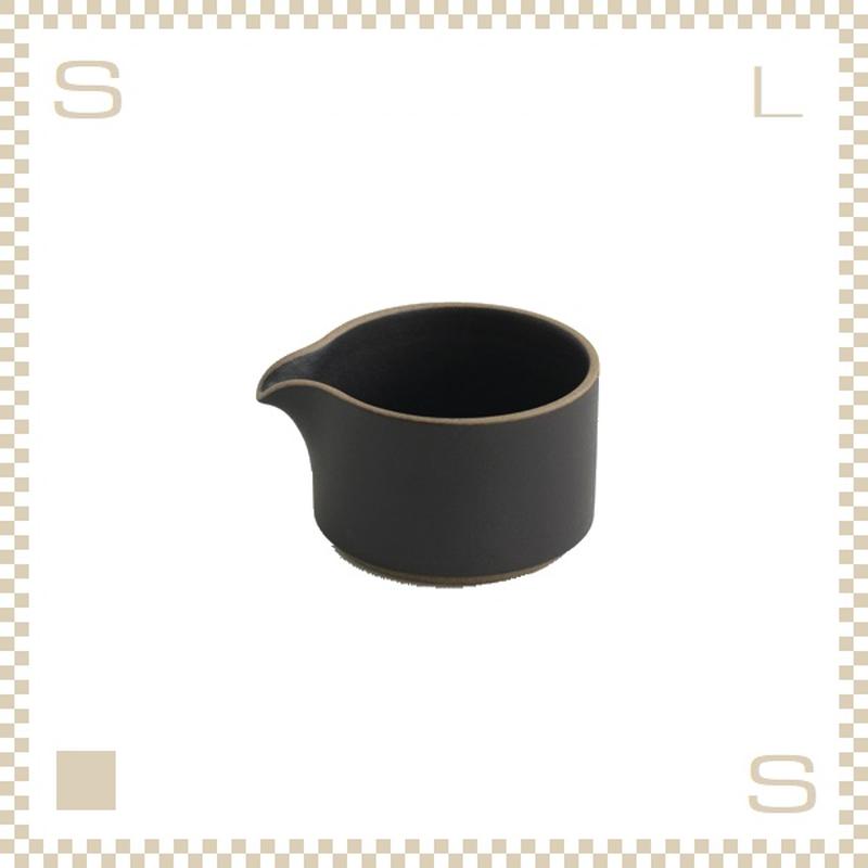 ハサミポーセリン ミルクピッチャー ブラック Φ85/H55mm スタッキング可 HPB028 Hasami Porcelain