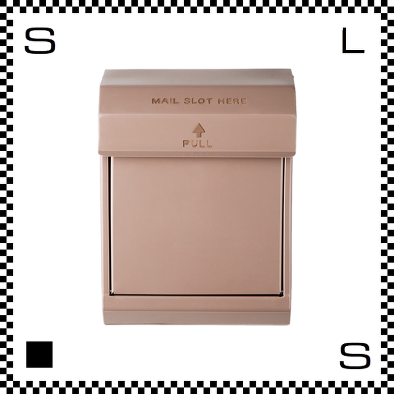 アートワークスタジオ メールボックス ダイヤル式 ベージュ W283/D190/H380mm 壁付ポスト 鍵付き 郵便ポスト  TK-2079-BE