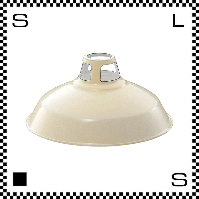 アートワークスタジオ Enamel Shade エナメルシェード Lサイズ バター シェードのみ Φ400/H190mm ホーロー仕上げ ビンテージライン風 AW-0035-BU