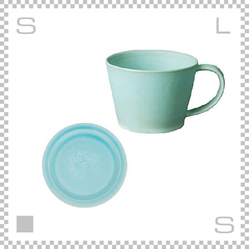 SAKUZAN サクザン SARA サラ コーヒーカップ&ソーサー ターコイズ パステルカラー 日本製