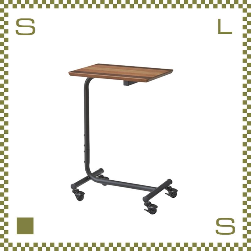 サイドテーブル W40/D30/H61.5cm ミニテーブル キャスター付き シンプルナチュラル 北欧デザイン azu-end352