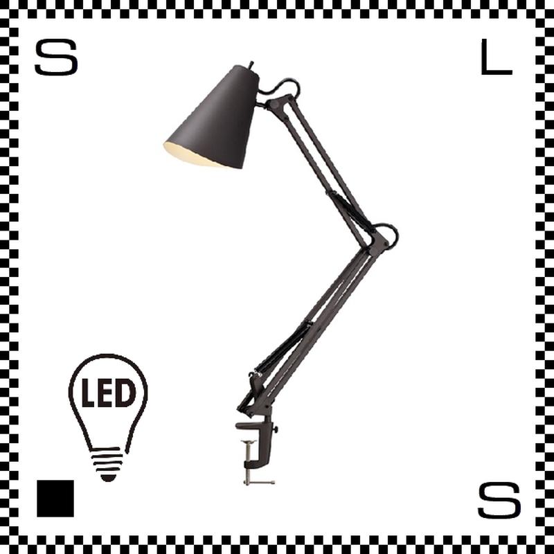 アートワークスタジオ Snail スネイルデスクアームライト ブラック LED電球付 アーム:780mm クランプ型 デスクランプ 鋳物 AW-0369E-BK
