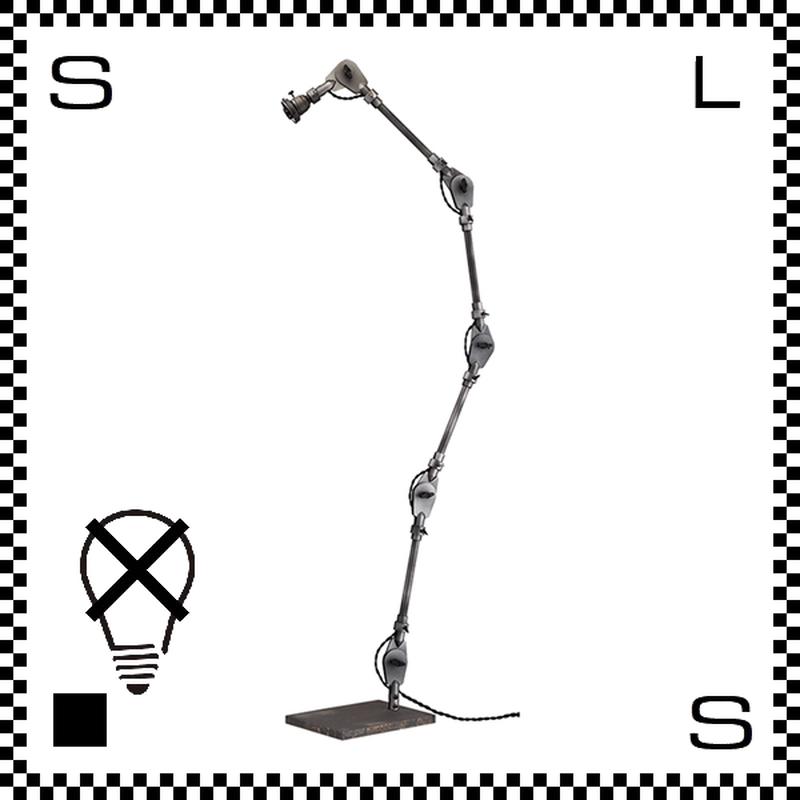 アートワークスタジオ エンジニアフロア本体 ビンテージメタル フロアライトベース 電球別売 アーム:1860mm E26 AW-0440-VME