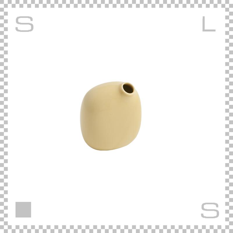 KINTO キントー SACCO サッコ ベース イエロー W80/D50/H95mm 180ml 花瓶 陶器製ベース