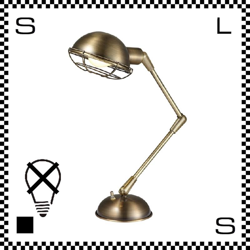 アートワークスタジオ Bronx ブロンクスデスクランプ ゴールド 電球なし アーム:450mm レトロアメリカンスタイル 2段アーム 鋳物 AW-0348Z-GD