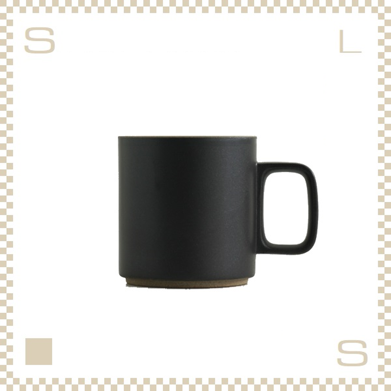 ハサミポーセリン マグカップ Mサイズ ブラック Φ85/H89mm 380ml スタッキング可 HPB020 Hasami Porcelain