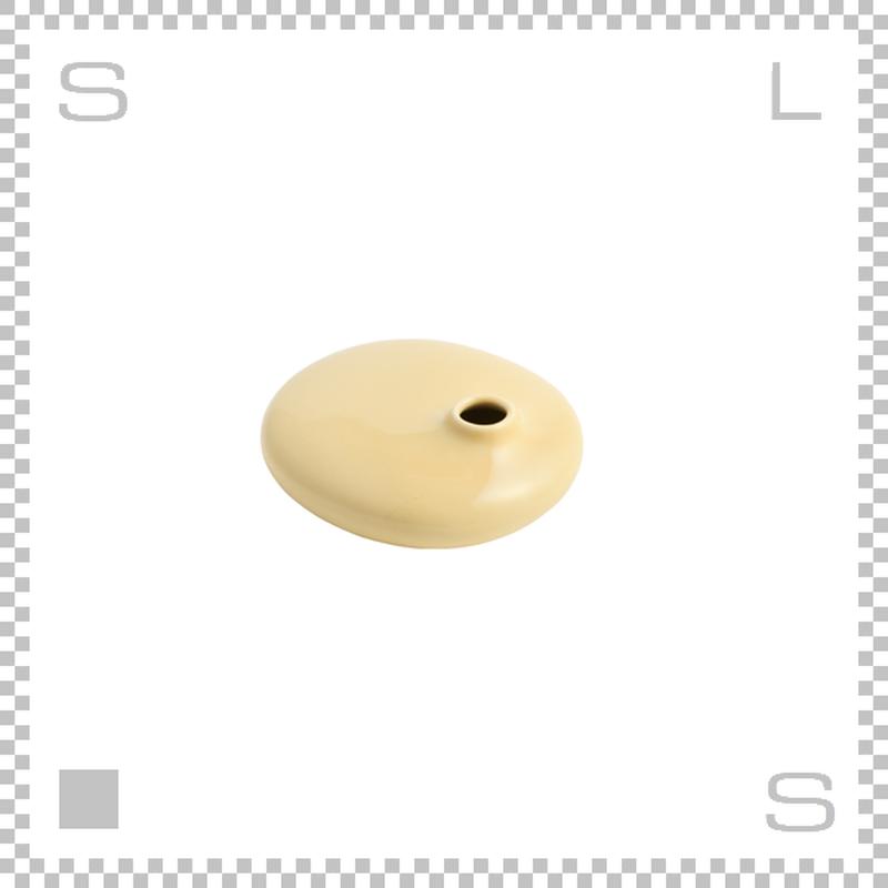 KINTO キントー SACCO サッコ ベース フラット イエロー W110/D100/H40mm 150ml 花瓶 陶器製ベース