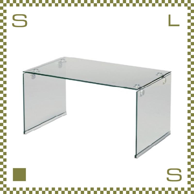 ガラステーブル クリア W76/D45/H39cm オールガラステーブル ローテーブル センターテーブル azu-pt28cl