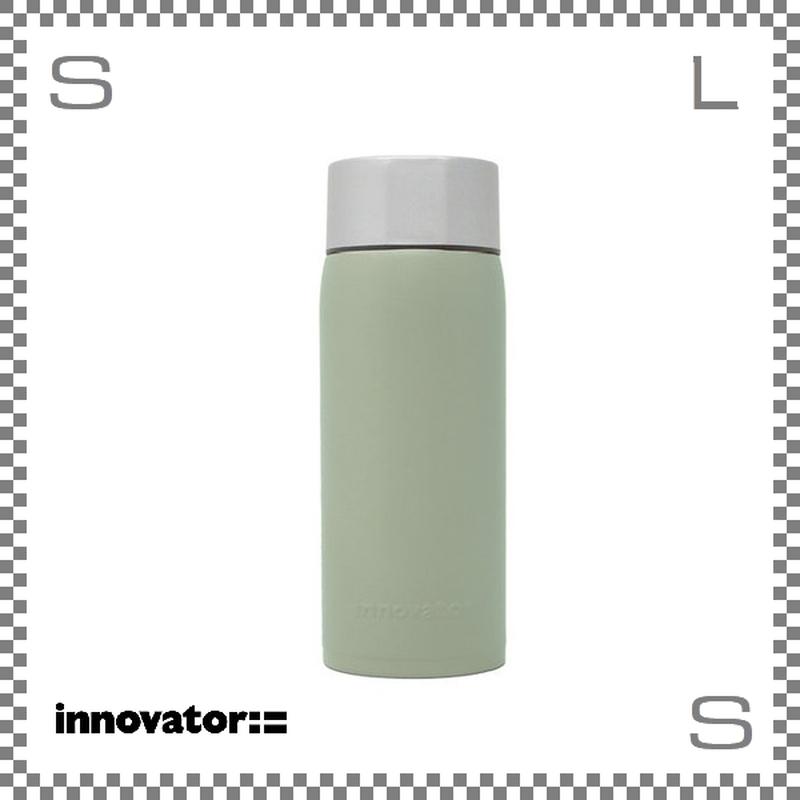 Innovator イノベーター ステンレスボトル 370ml グリーングレー  Φ63/H173mm 携帯ボトル 魔法瓶 水筒
