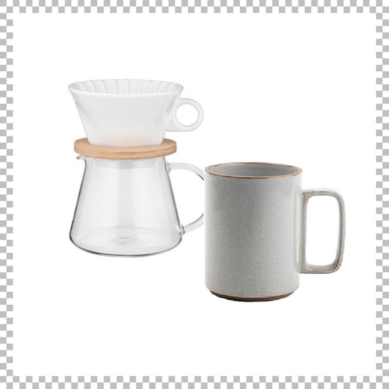 SNOWTOP COFFEE series スノウトップ コーヒーポット&ドリッパーセット 600ml & HASAMI PORCELAIN マグカップ Lサイズ クリア(グロス)