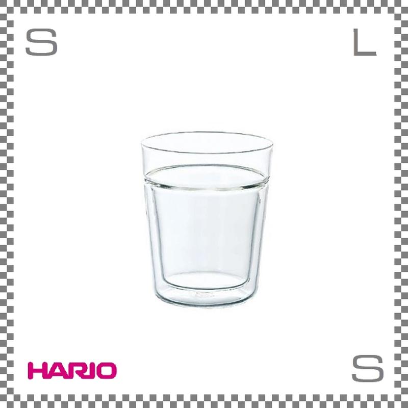 HARIO ハリオ ツインロックグラス 260ml Φ82/H97mm ダブルウォールグラス タンブラー 耐熱ガラス製 日本製 trg-260