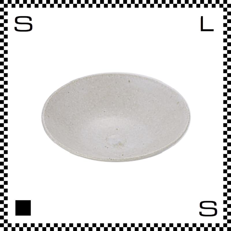 笠間焼 鈴木まるみ 小皿 糠白 Φ12/H4cm(高台径:4cm) ハンドメイド プレート ラウンドプレート 日本製