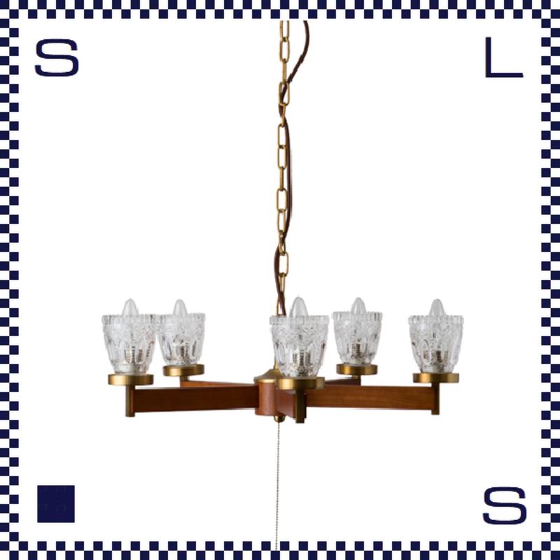 HERMOSA ハモサ ARMERIA アルメリアシャンデリア 5灯 キャンドルモチーフ ペンダントライト W560/H160mm