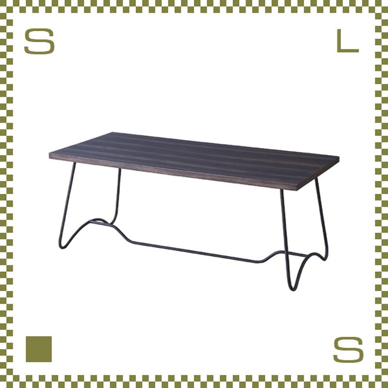 コーヒーテーブル ベンチモチーフ ダークブラウン W100/D45/H40cm ブルックリンスタイル ローテーブル 天然マホガニー材使用 azu-nw111dbr