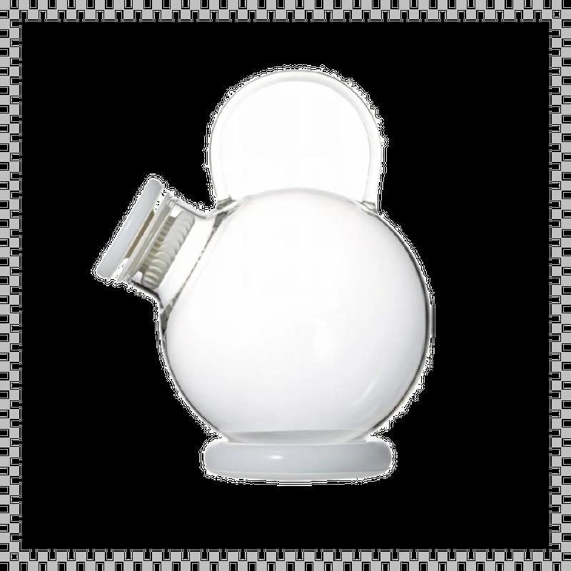 SNOWTOP TEA series スノウトップ ティーポット ホワイト 1000ml W180/D135/H175mm 耐熱ガラス製 蓋・スタンド・ストレナー付き