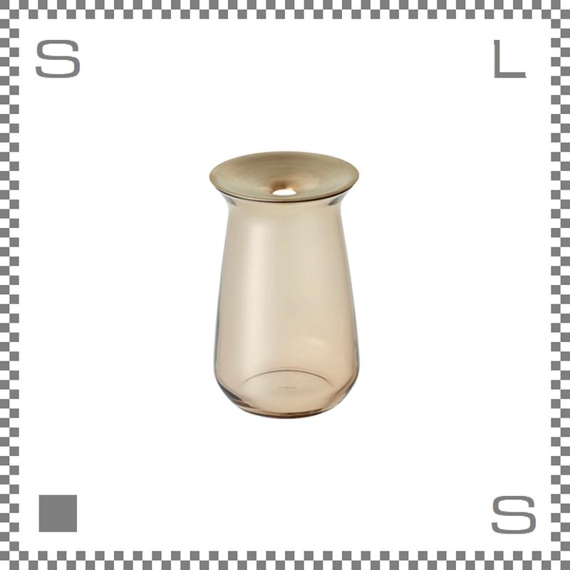 KINTO キントー LUNA ルナ ベース Mサイズ ブラウン Φ80/H130mm 360ml 花瓶 一輪挿し