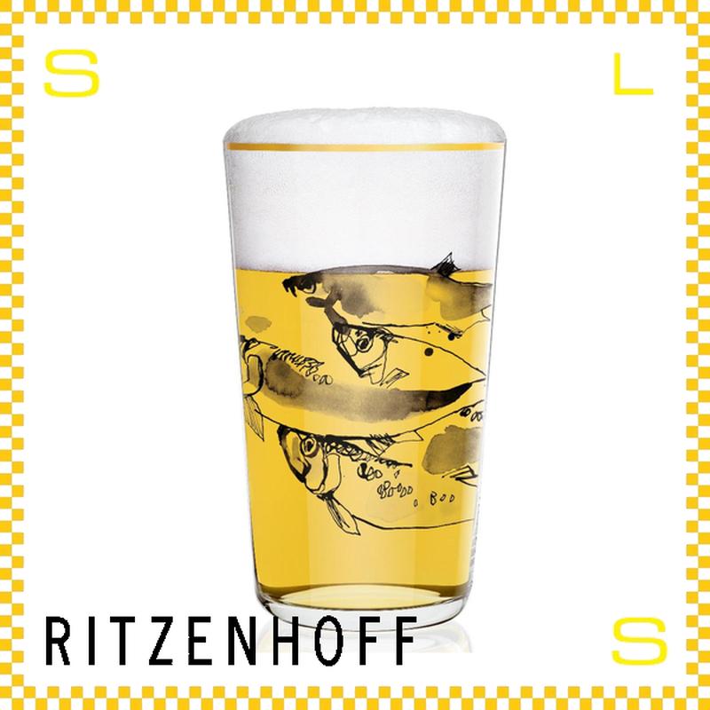 RITZENHOFF リッツェンホフ ビアグラス 330ml フィッシュ ピーター・ピヒラー Φ80/H140mm タンブラー 魚 ギフト  ritz-3510005