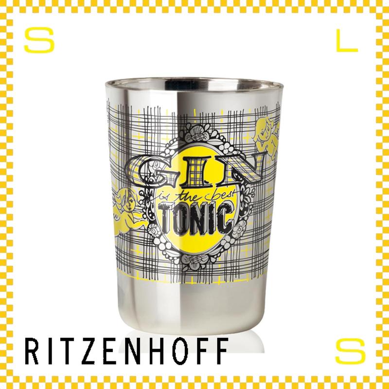RITZENHOFF リッツェンホフ ジントニックグラス 250ml エンブレム クラウス・ドルシュ Φ83/H115mm タンブラー チェック ギフト  ritz-3530002