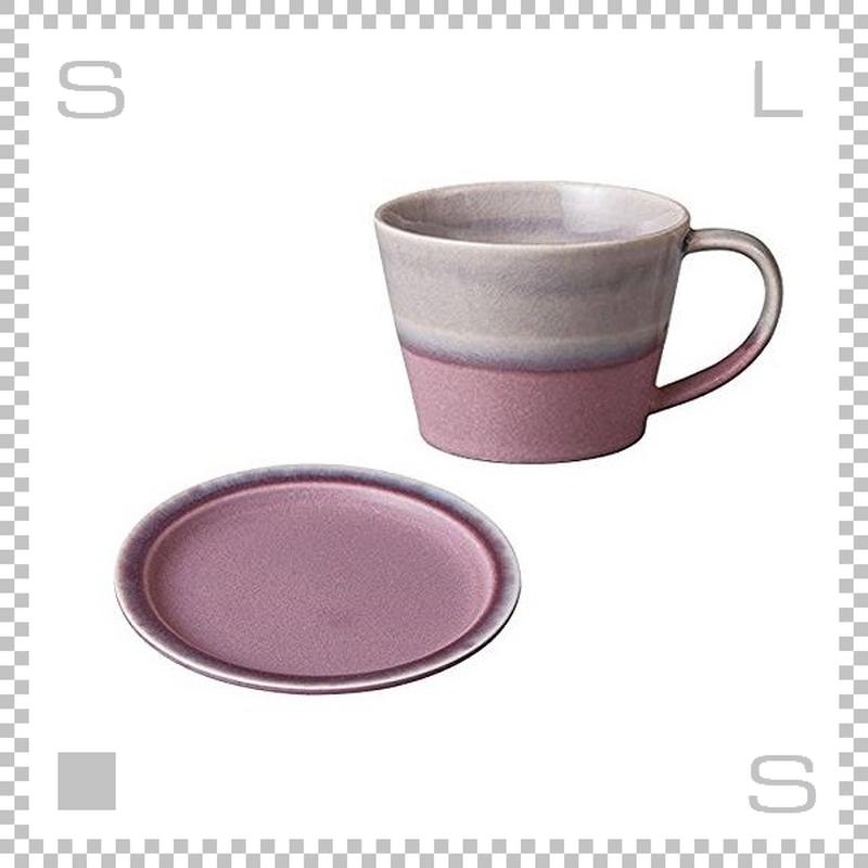 SAKUZAN サクザン COLOR カラー カップ&ソーサー パープル パステルカラー 日本製