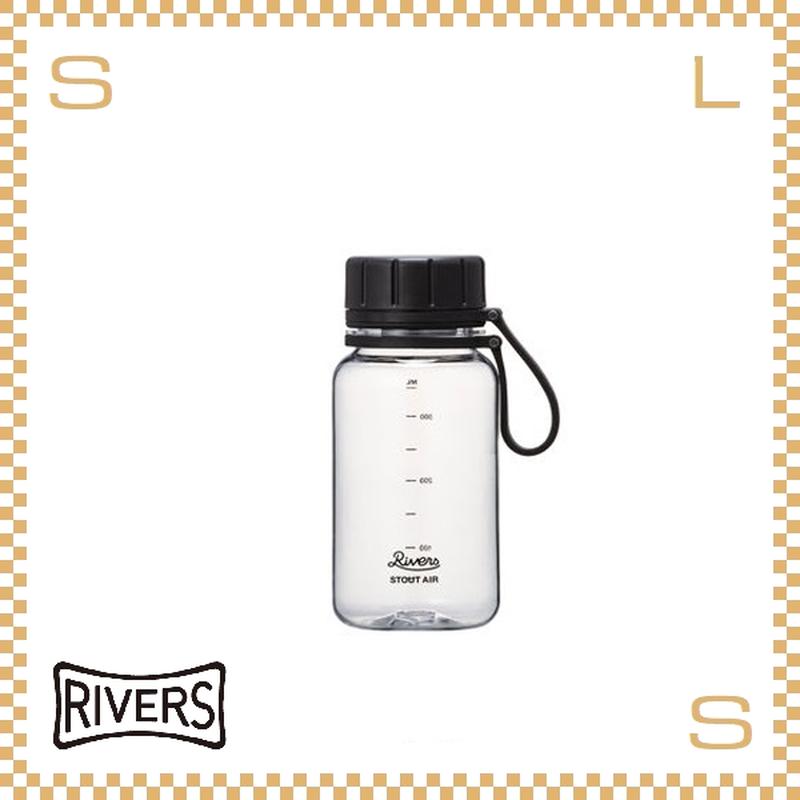 RIVERS リバーズ スタウトエア 400 クリア 400ml W100/D71/H157mm ウォーターボトル スプラッシュガード付 トライタン使用