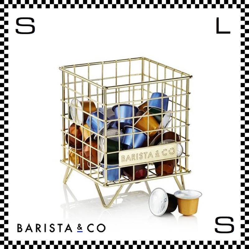 BARISTA&CO バリスタアンドコー ポットケージ コパー ゴールド W13.8/D13.8/H16.7cm コーヒーカプセル入れ