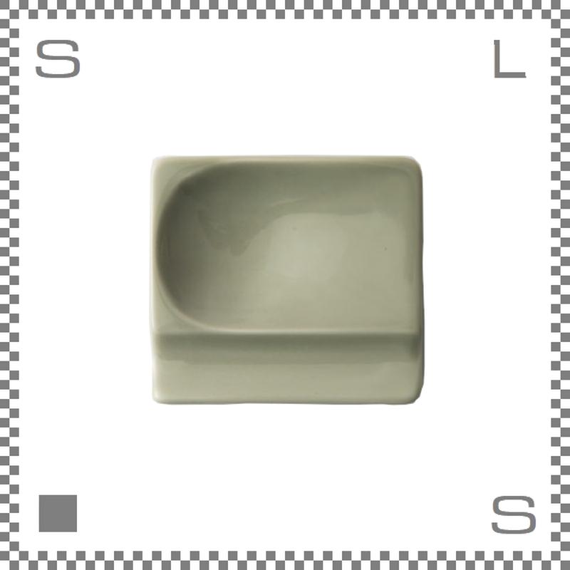 aiyu アイユー 重宝皿 ベージュ W8/D7.2/H1.3cm スクエアプレート 万能皿 箸置きスペースあり 波佐見焼 日本製