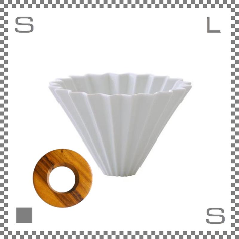 ORIGAMI オリガミ ドリッパーセット ドリッパー Mサイズ ホワイト 2~4杯用 &専用ドリッパーホルダー