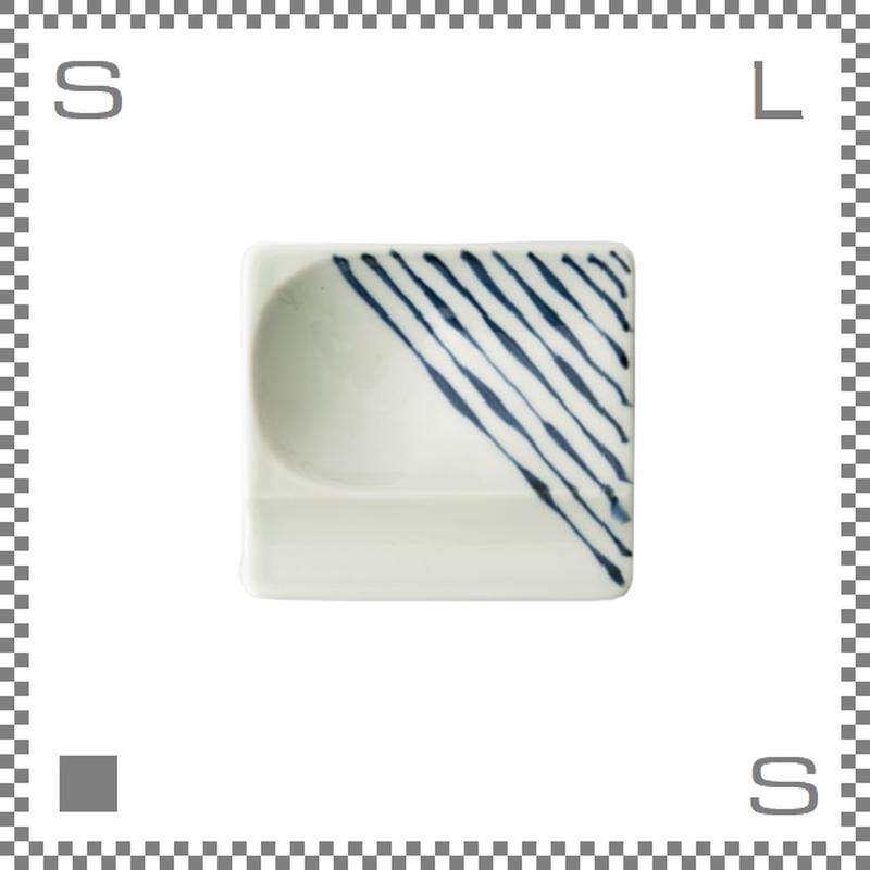 aiyu アイユー 重宝皿 つれづれ十草 青 ブルー W8/D7.2/H1.3cm スクエアプレート 万能皿 箸置きスペースあり 波佐見焼 日本製