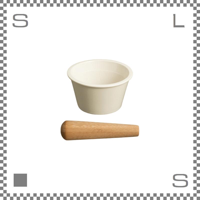 KINTO キントー TAKU すりばち&すりこぎ ホワイト 磁器製 すり鉢 めん棒
