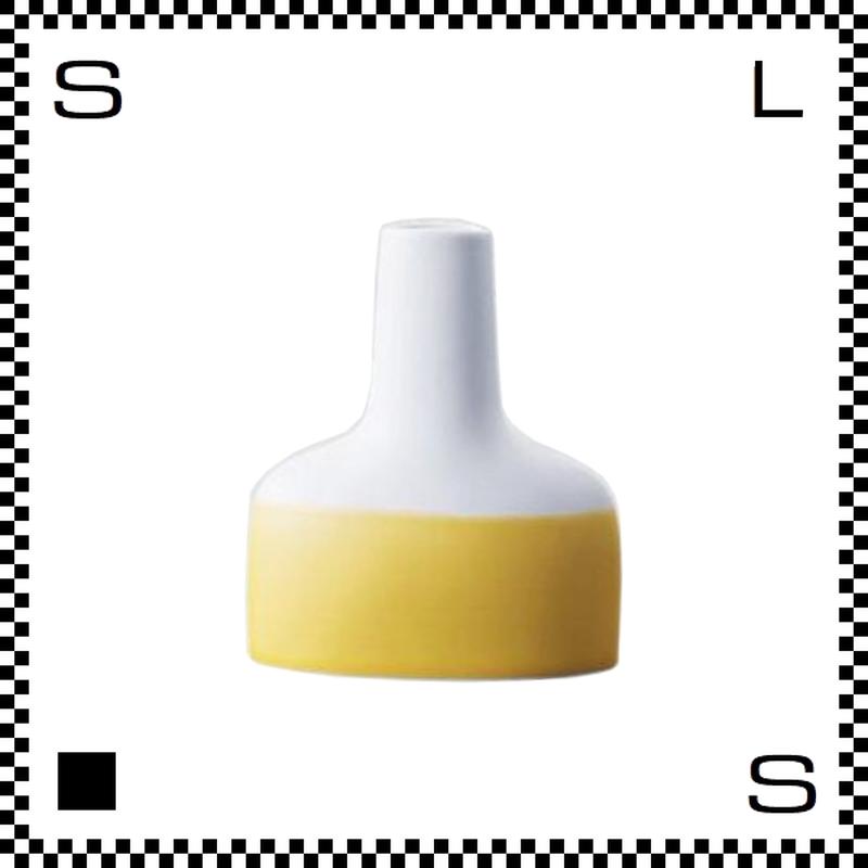 essence エッセンス ファミリーベース イエロー W12/D4/H14cm 花瓶 一輪挿し 波佐見焼 日本製