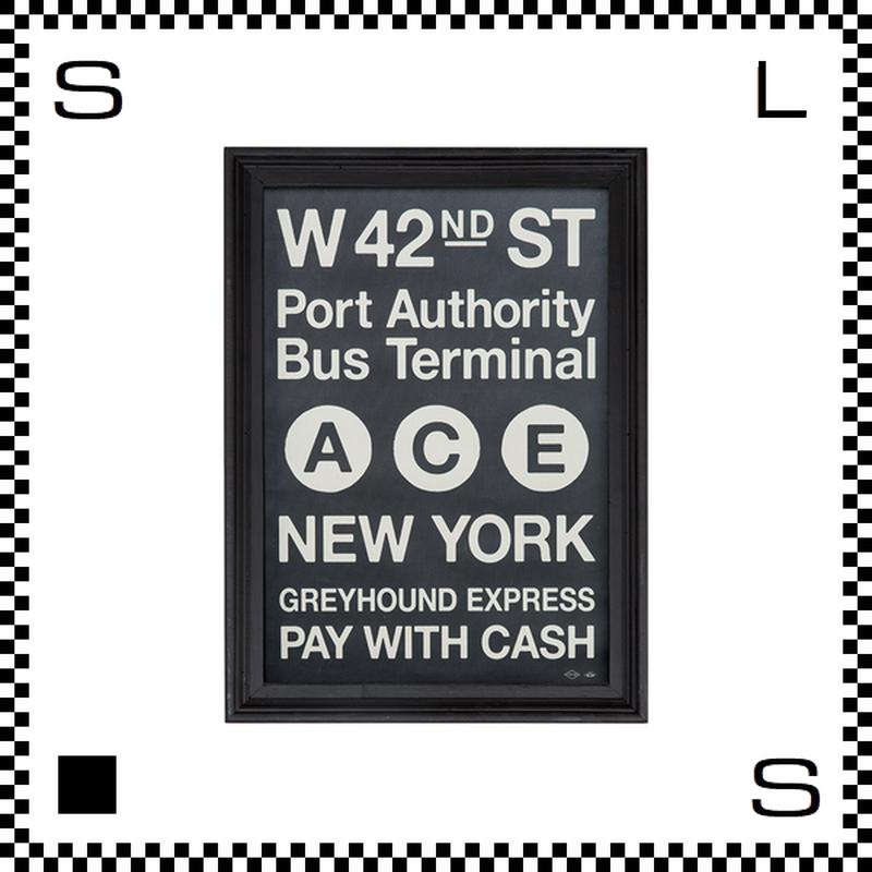 アートワークスタジオ アートフレーム A3サイズ ニューヨーク ブラックフレーム W340/D30/H465mm ポスター付フレーム アートポスター TR-4197-NY