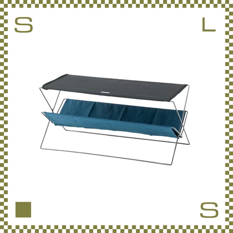 フォールディングテーブル ネイビー W50/D41/H42cm 折り畳み ローテーブル ミリタリー風 アウトドア azu-mip95nv