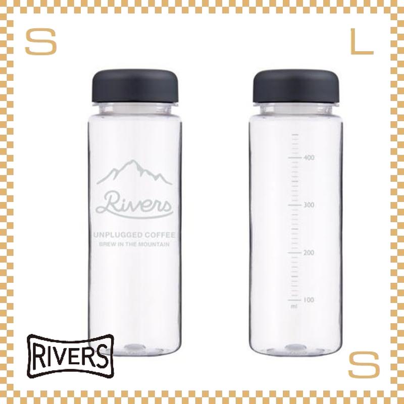 RIVERS リバーズ リユースボトル S500 アンプラグド マウンテン 500ml W65/D65/H195mm ウォーターボトル スプラッシュガード付 保存容器