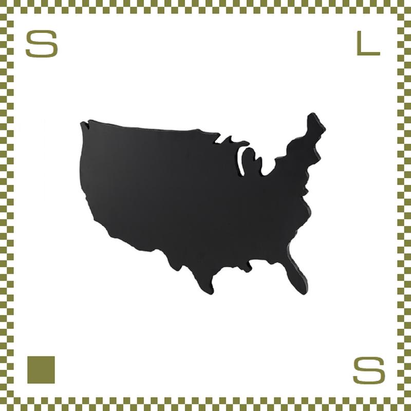 ブラックボード USA Mサイズ W93/D2.5/H58.5cm 黒板 アメリカ大陸モチーフ ウォールデコ azu-lfs593
