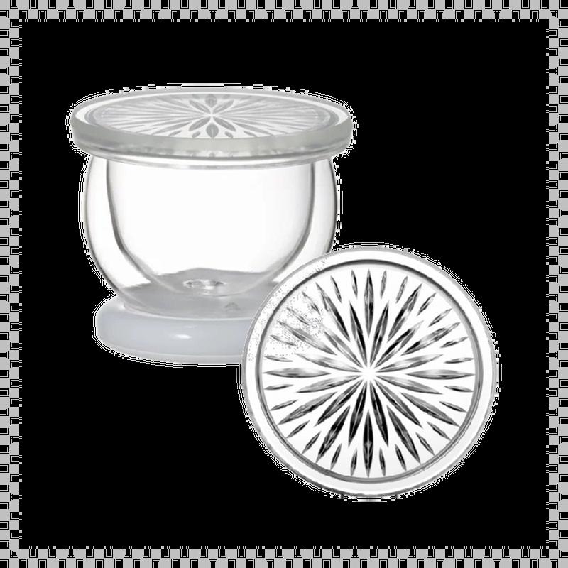 SNOWTOP TEA series スノウトップ ダブルウォールマグ 菊花柄 ホワイト 100ml Φ90/H70mm 耐熱ガラス製 蓋・スタンド付き