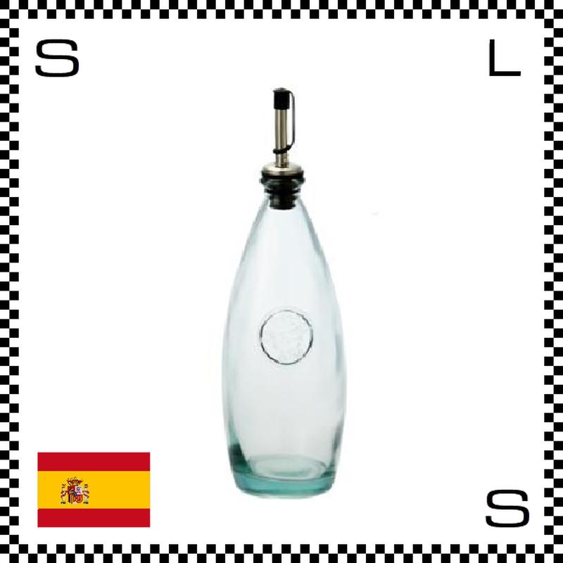 リサイクルガラス ボテラ オイルボトル 650cc Φ85/H280mm 注ぎ口付き ハンドルなし カフェ スペイン製 g490047