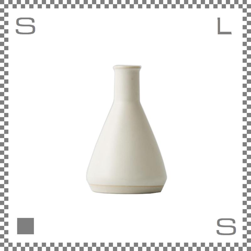 aiyu アイユー BIKASUCO ビカスコ Lサイズ ホワイト W7/D7/H11cm 130cc フラワーベース 花瓶 波佐見焼 日本製