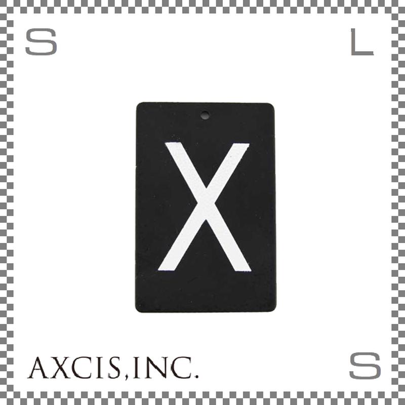 """AXCIS アクシス アイアンプレート """"X"""" W40/D2/H60mm アルファベットプレート スチール製 アイアンネームプレートホルダー用 hs2581"""