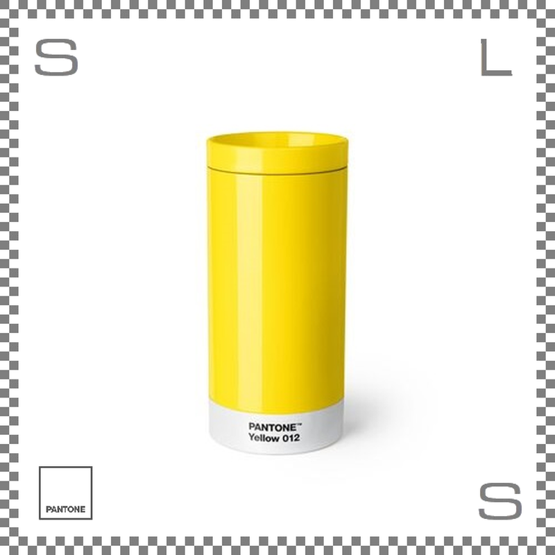 PANTONE パントン テイクアウトタンブラー イエロー 430ml Φ75/H164mm ステンレスボトル 魔法瓶