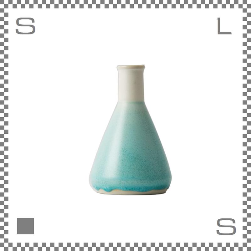 aiyu アイユー BIKASUCO ビカスコ Lサイズ ブルー W7/D7/H11cm 130cc フラワーベース 花瓶 波佐見焼 日本製