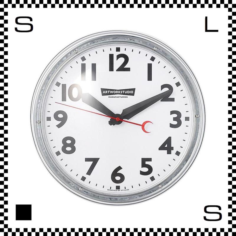 アートワークスタジオ エンジニアードクロック ホワイト/ホワイト 直径35cm ウォールクロック 掛け時計 レトロアメリカ TK-2072-BKWH